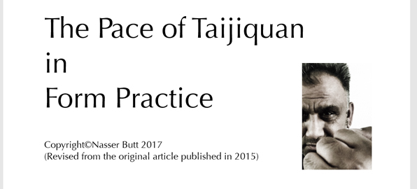 The Pace of Taijiquan